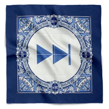 Foulard en soie Bleu Forward Ignasi Monreal 2019 Montreux Jazz Festival