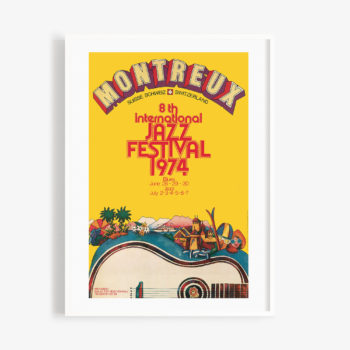 Poster Bruno Gaeng, 1974 Montreux Jazz Festival 30x40cm