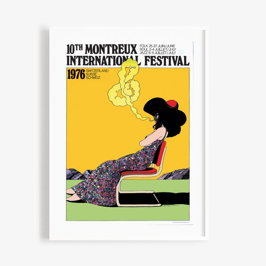 Poster Milton Glaser, 1976 Montreux Jazz Festival 30x40cm Yellow