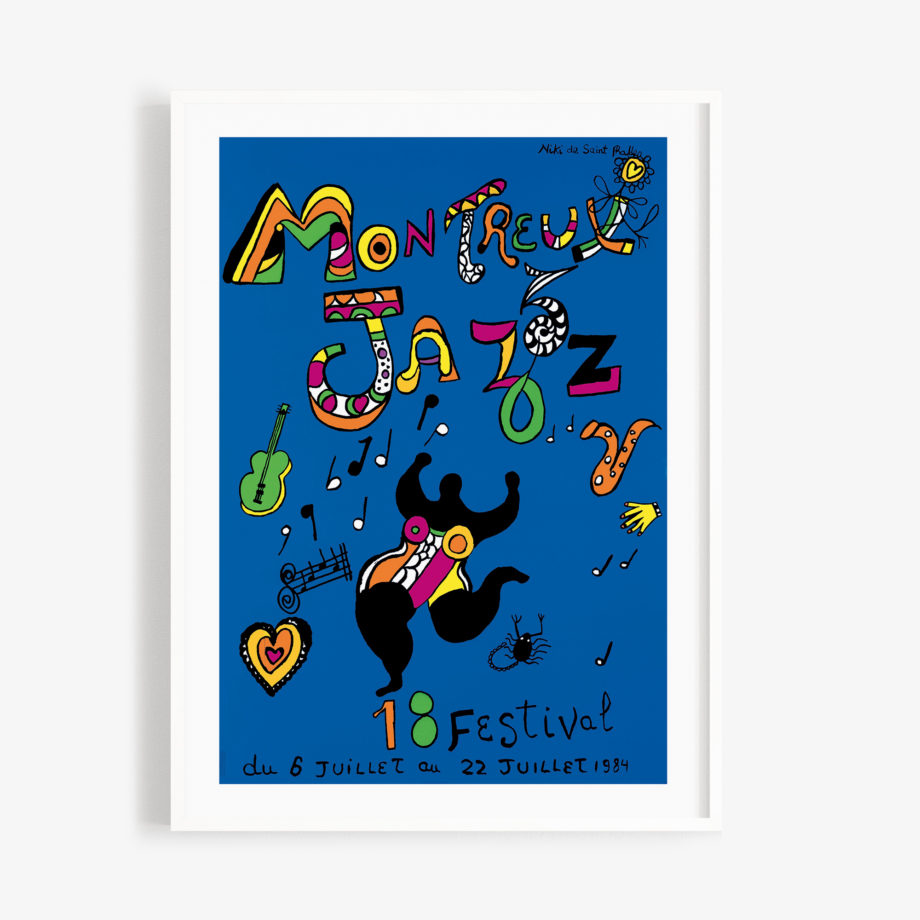 Poster Niki de Saint Phalle, 1984 Montreux Jazz Festival 30x40cm