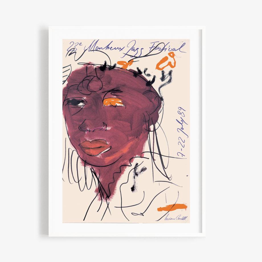 Poster Luciano Castelli, 1989 Montreux Jazz Festival 30x40cm