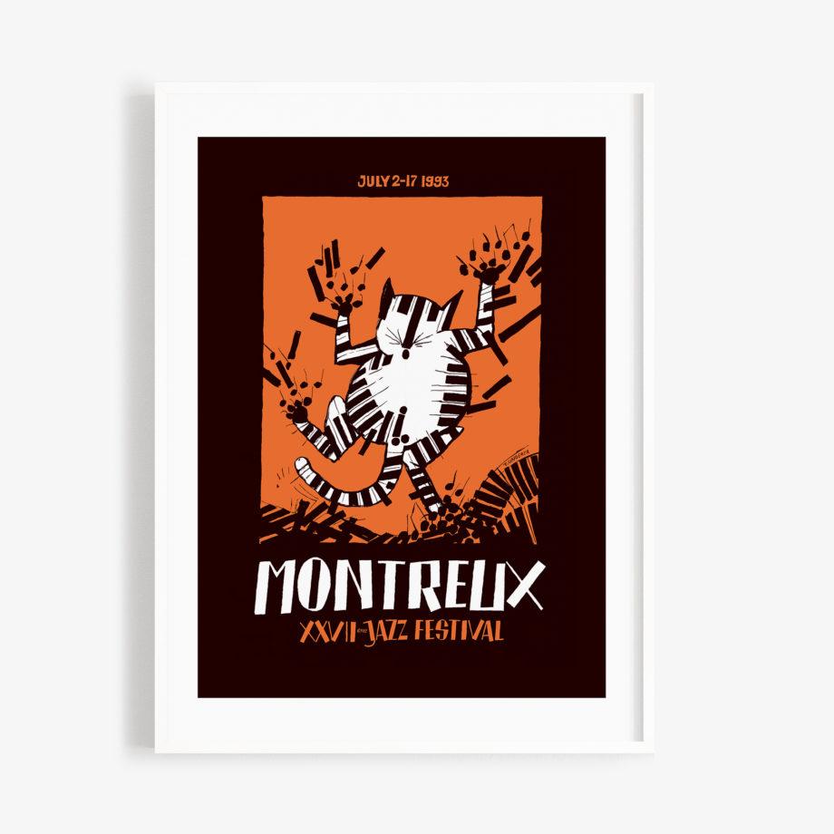 Poster Pier Tomi Ungerer, 1993 Montreux Jazz Festival 30x40cm