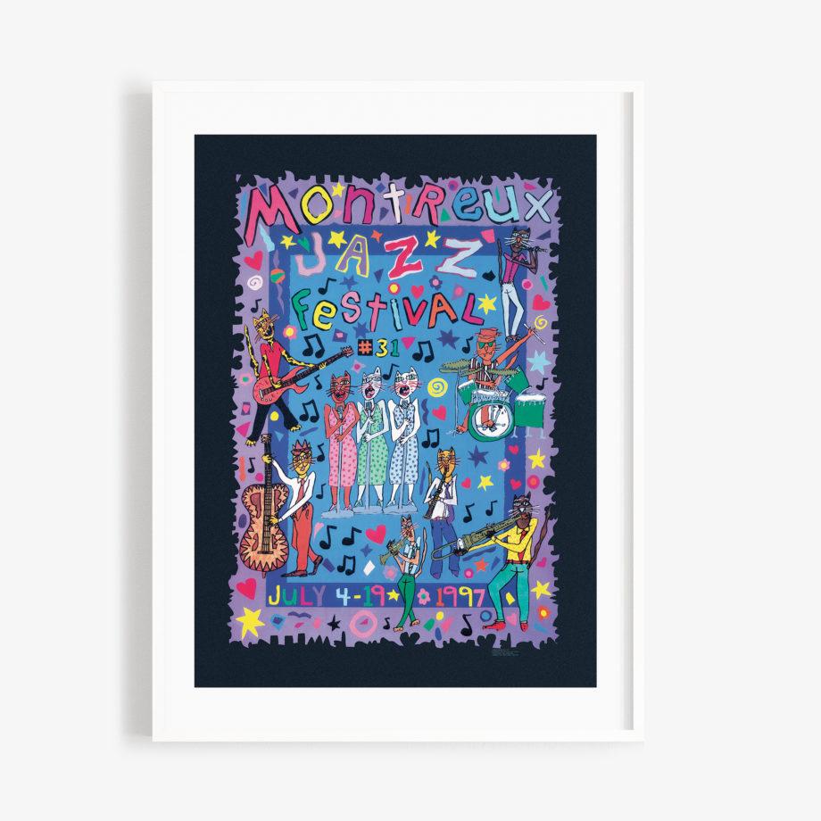 Poster James Rizzi, 1997 Montreux Jazz Festival  30x40cm