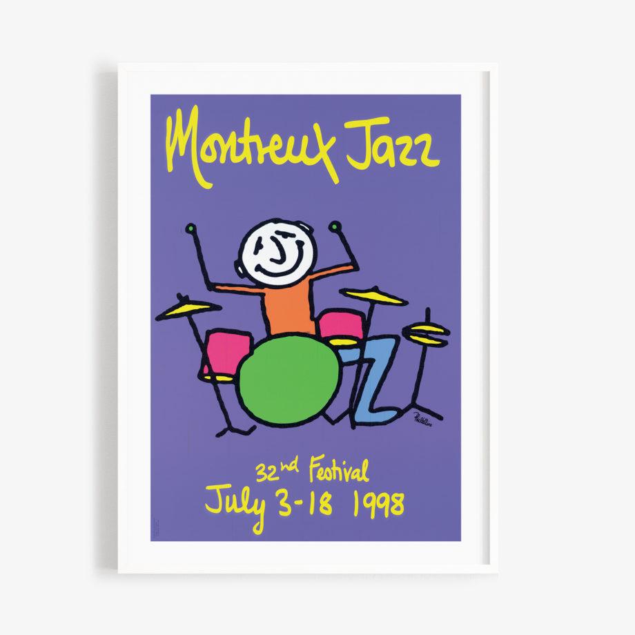 Poster Phil Collins 1998 Montreux Jazz Festival 30x40cm