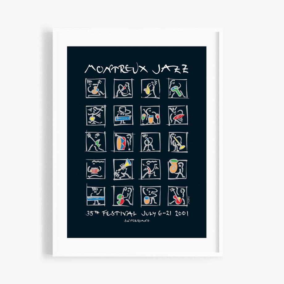 Poster Matthias Winkler, 2001 Montreux Jazz Festival 30x40cm