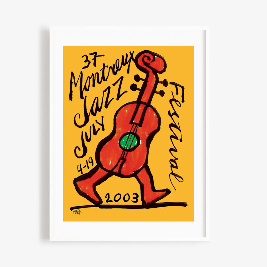 Poster Ted Scapa 2003 Montreux Jazz Festival 30x40cm