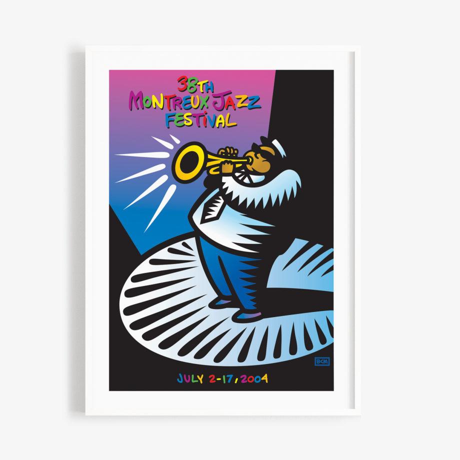 Poster Burton Morris 2004 Montreux Jazz Festival 30x40cm