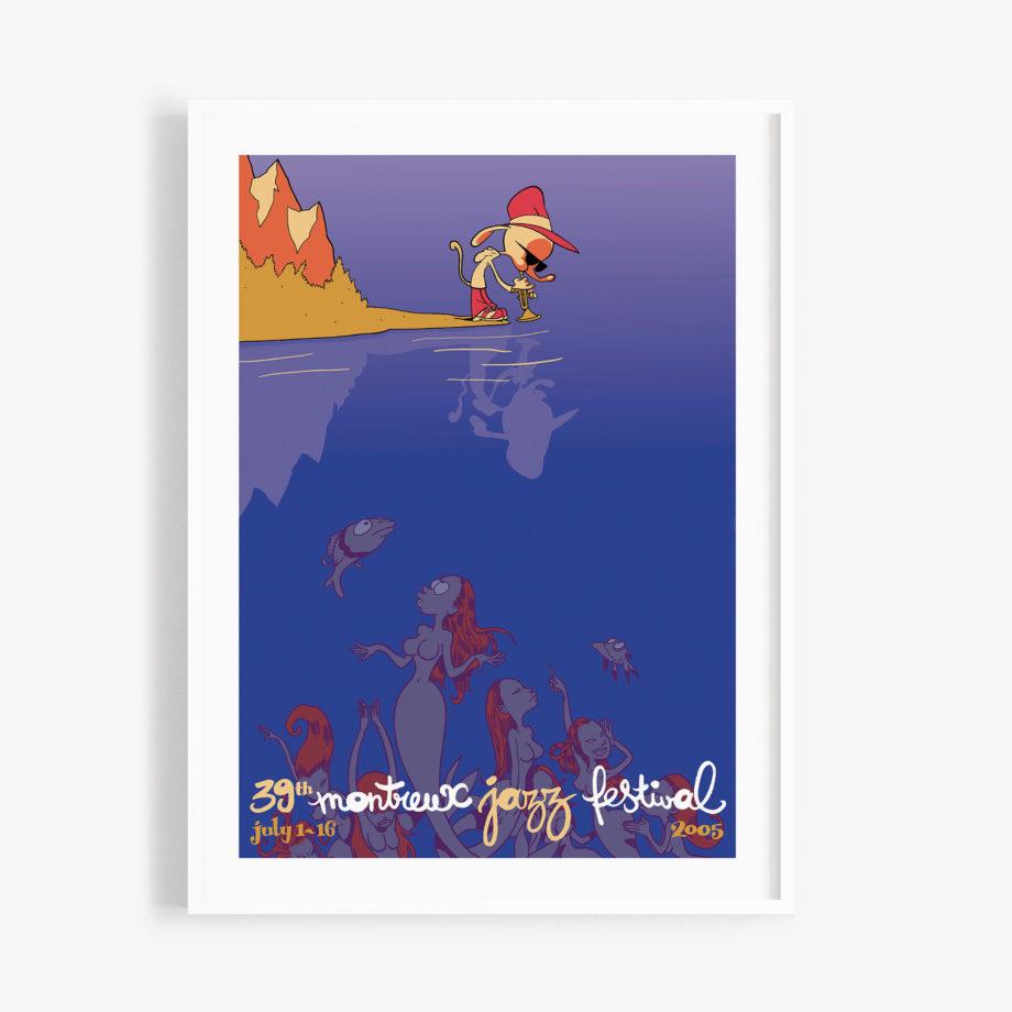 Poster Zep 2005 Montreux Jazz Festival 30x40cm