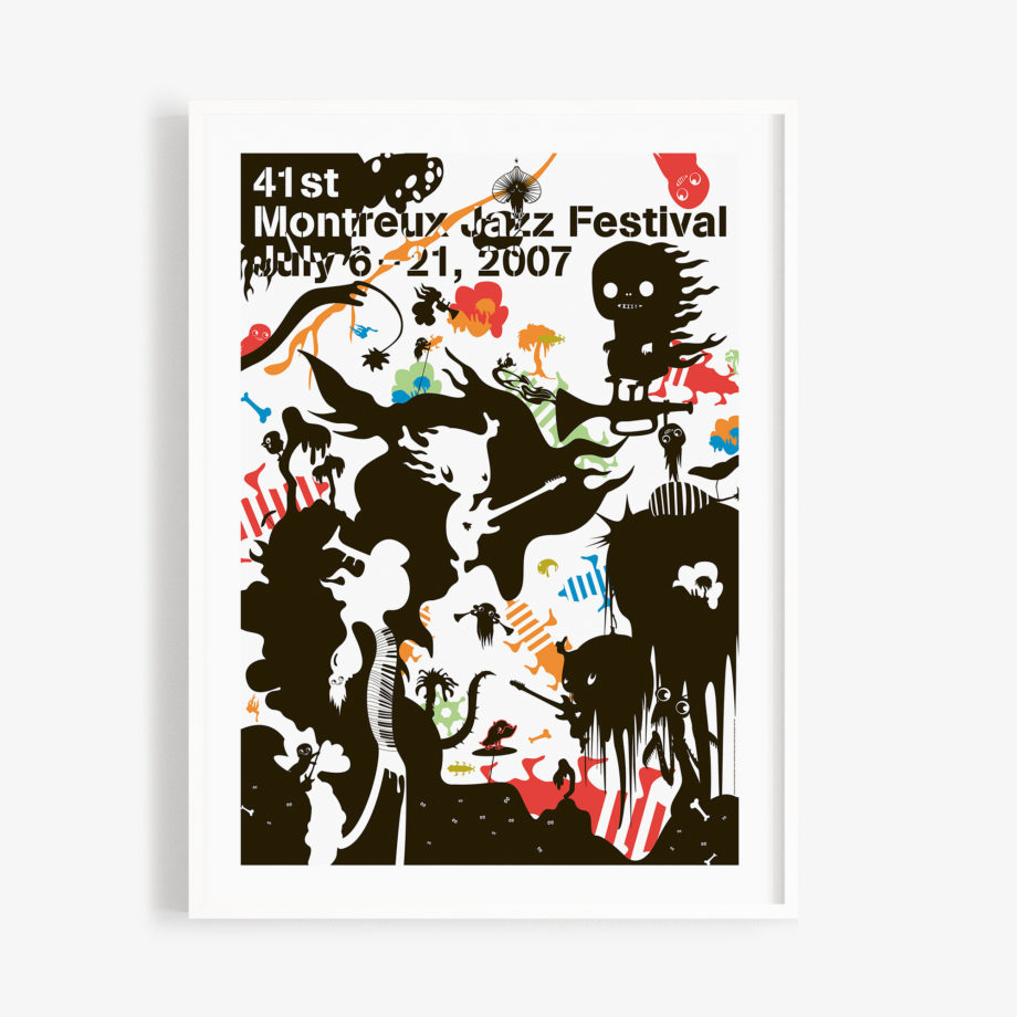 Poster Katrín Ólina 2007 Montreux Jazz Festival 30x40cm