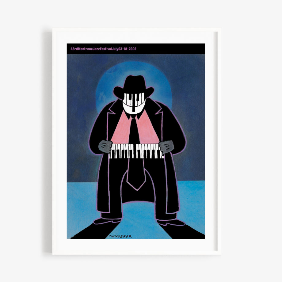 Poster Tomi Ungerer 2009 Montreux Jazz Festival 30x40cm