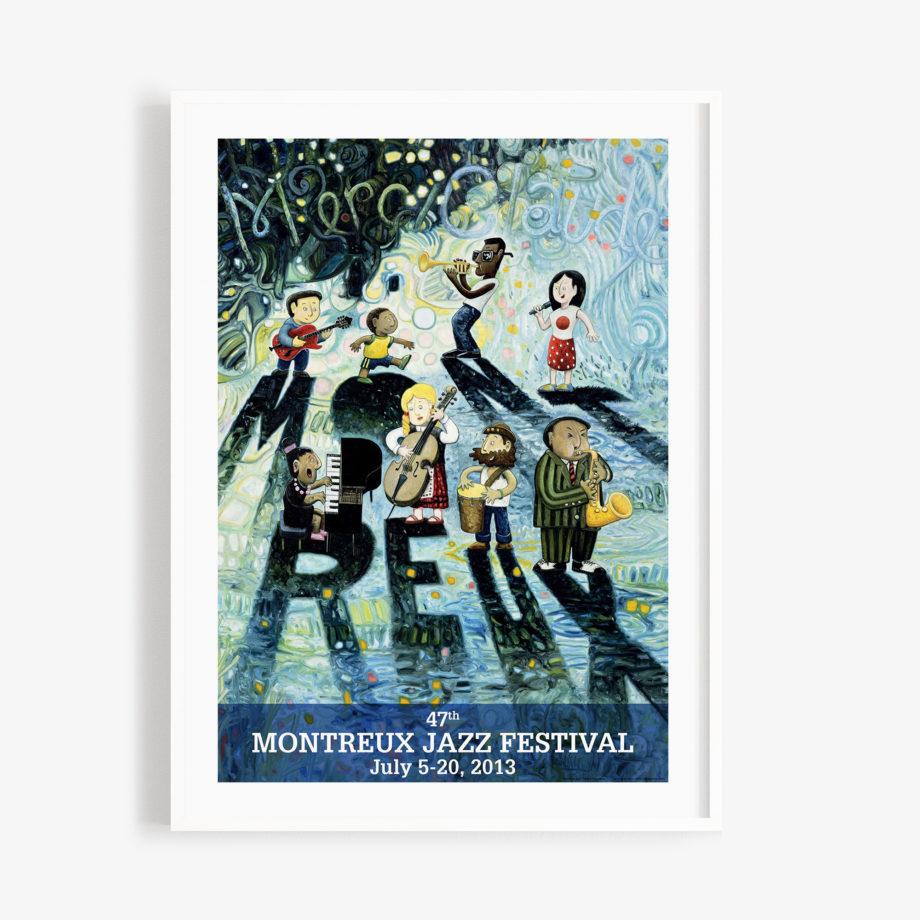 Poster Oscar Oiwa 2013 Montreux Jazz Festival 30x40cm