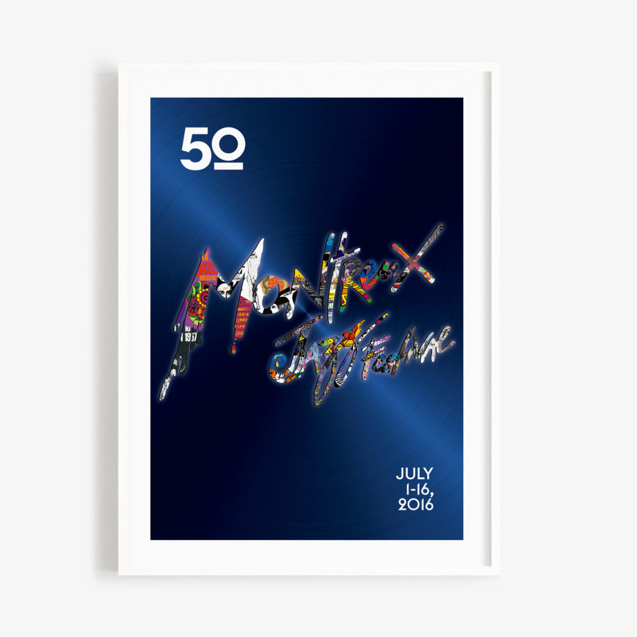 Poster Giovanni Riva 2016 Montreux Jazz Festival