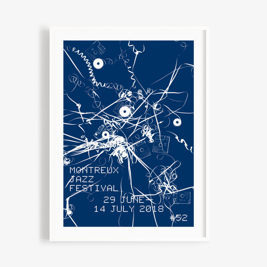 Affiche Christian Marclay 30 x 40 cm Cyanotype