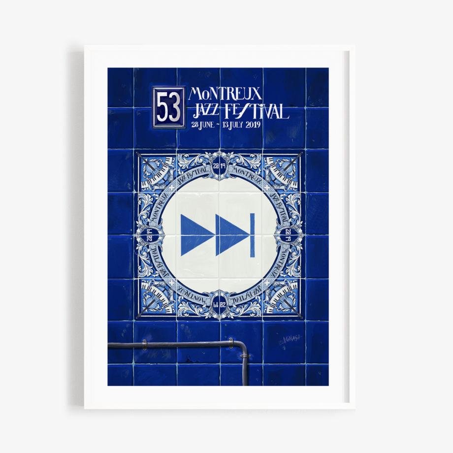 Poster Ignasi Monreal 2019 70x100 cm Bleu Forward