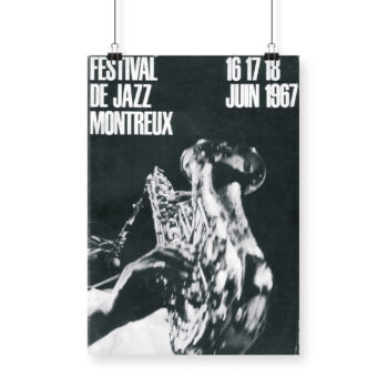 Affiche Giuseppe Pino 1967 Montreux Jazz Festival