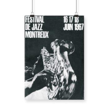 Poster Giuseppe Pino 1967 Montreux Jazz Festival