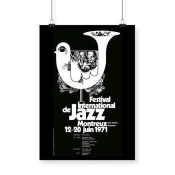 Poster Bruno Gaeng, 1971 Montreux Jazz Festival 70x100cm