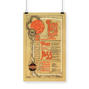 Poster Hamish Grimes 1973 Montreux Jazz Festival
