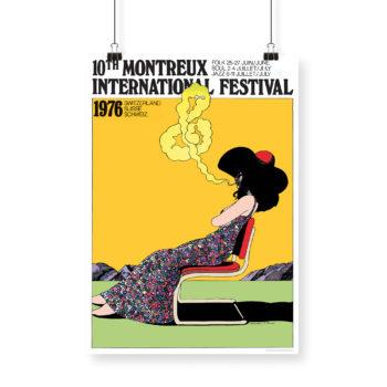 Poster Milton Glaser, 1976 Montreux Jazz Festival 70x100cm Yellow
