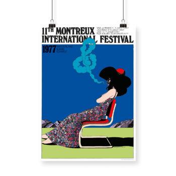 Poster Milton Glaser, 1977 Montreux Jazz Festival 70x100cm Blue