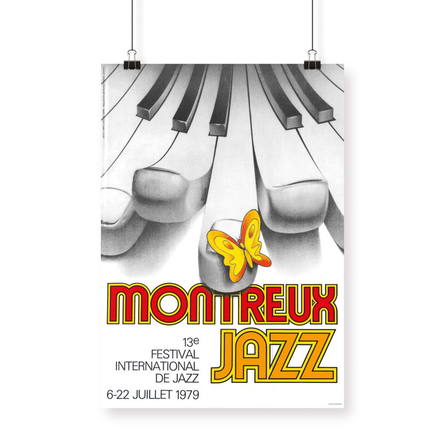 Affiche Bruno Gaeng 1979 Montreux Jazz Festival