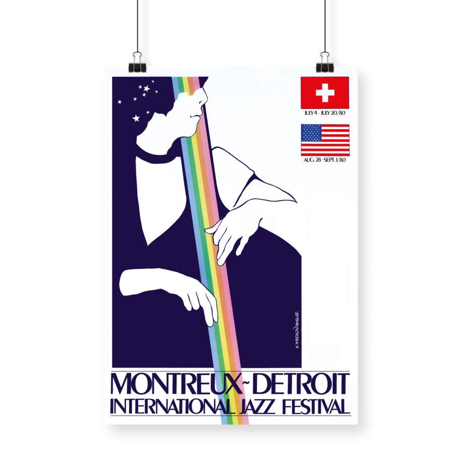 Affiche K. Magdalen Ringier 1980 Montreux Jazz Festival
