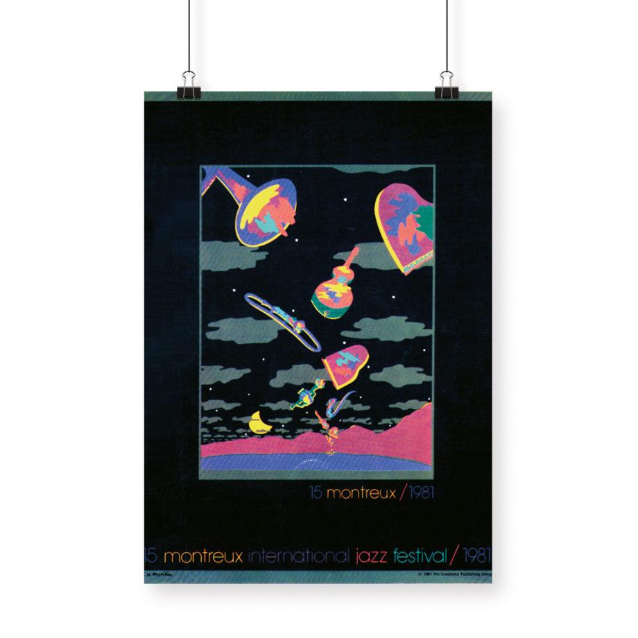 Poster Nikki Martin Rue 1981 Montreux Jazz Festival