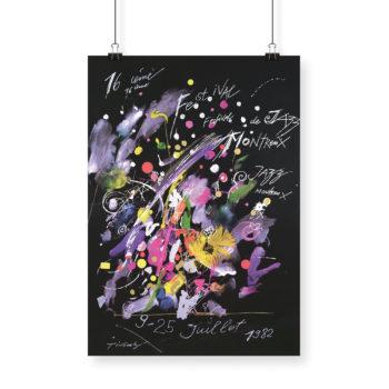 Poster Jean Tinguely, 1982 Montreux Jazz Festival 70x100cm