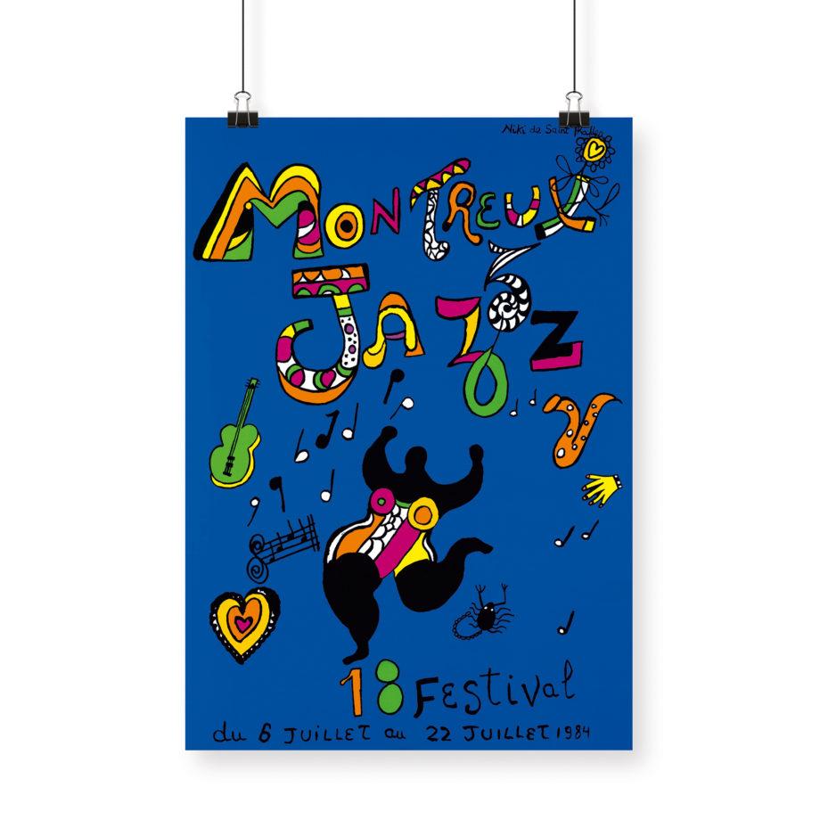 Poster Niki de Saint Phalle, 1984 Montreux Jazz Festival 70x100cm