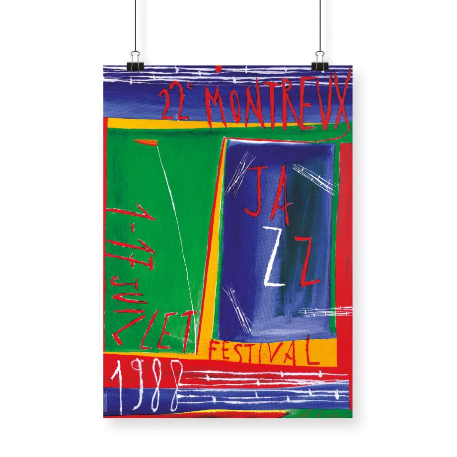 Poster Nicola de Maria, 1988 Montreux Jazz Festival 70x100cm