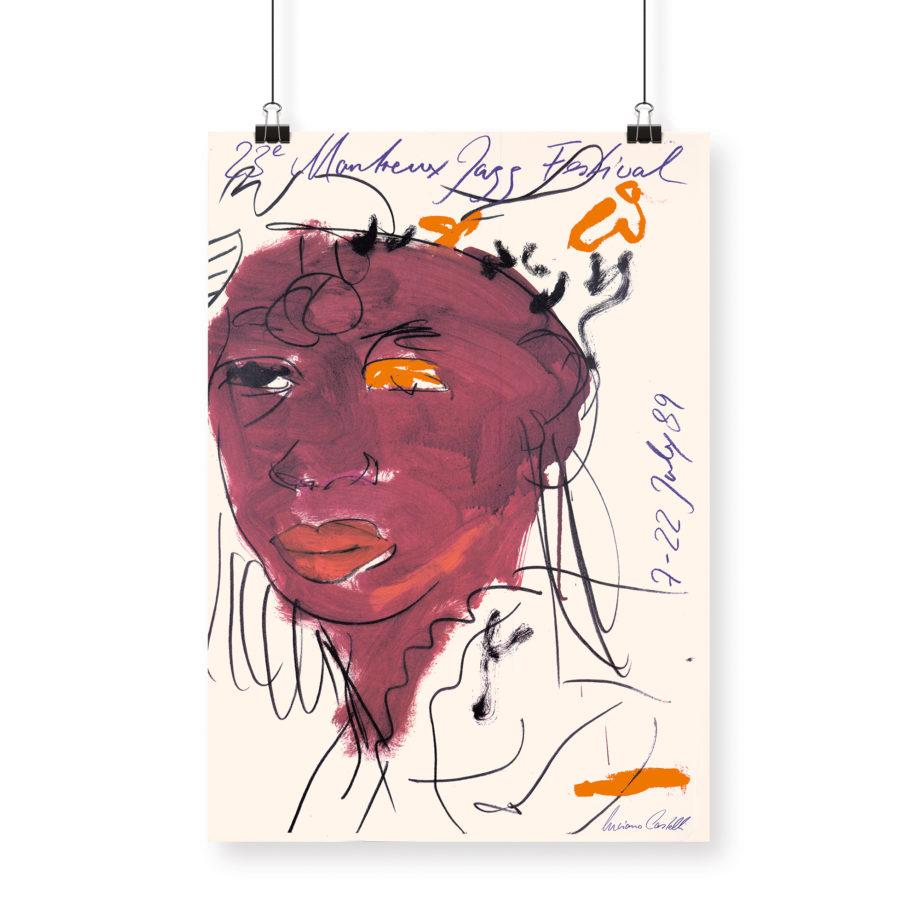 Poster Luciano Castelli, 1989 Montreux Jazz Festival 70x100cm