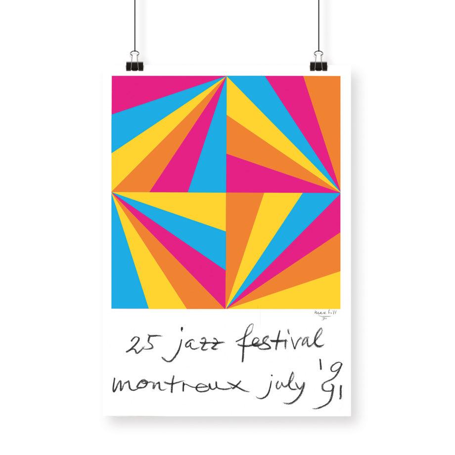 Poster Max Bill, 1991 Montreux Jazz Festival 70x100cm