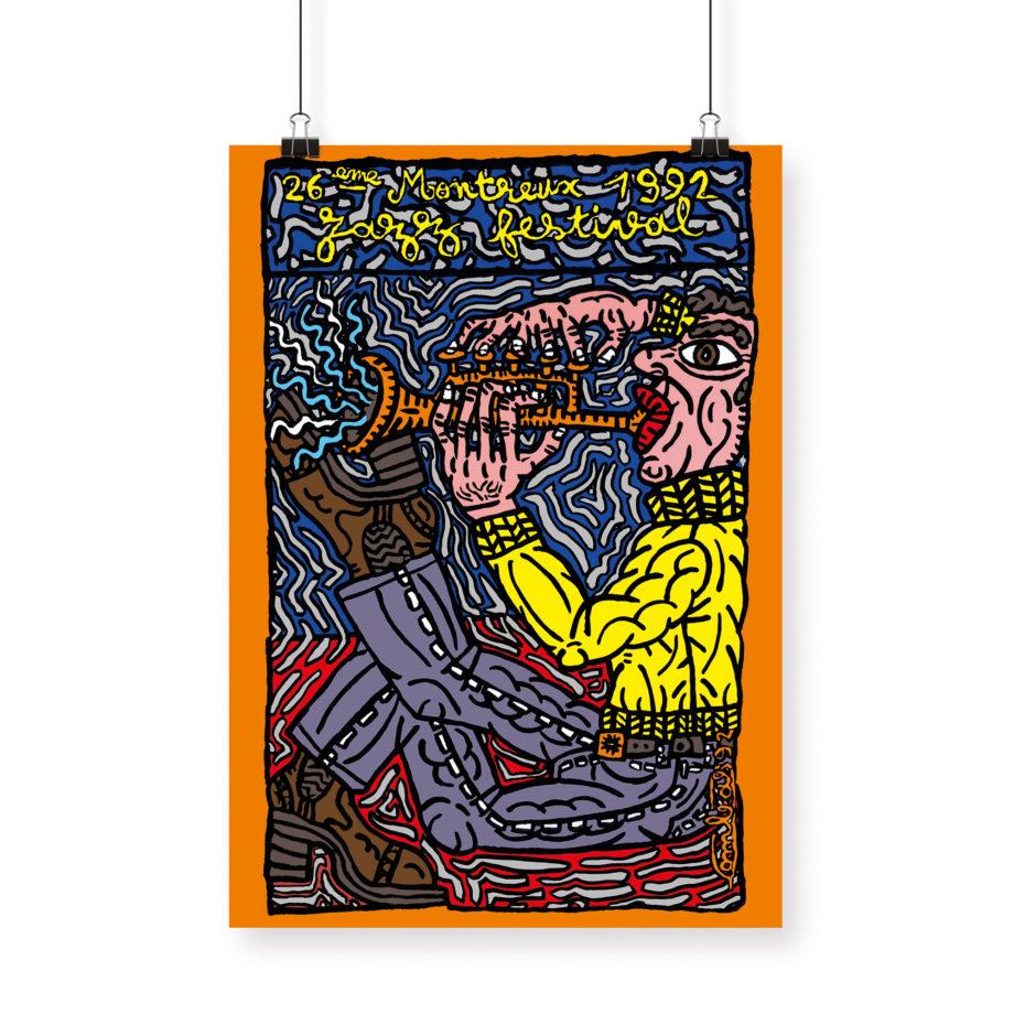Poster Robert Combas, 1992 Montreux Jazz Festival 70x100cm