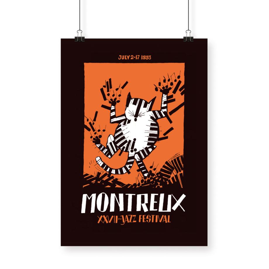 Poster Tomi Ungerer, 1993 Montreux Jazz Festival 70x100cm