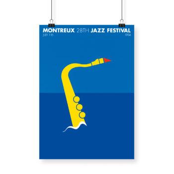 Poster Pier Arnoldi, 1994 Montreux Jazz Festival 70x100cm