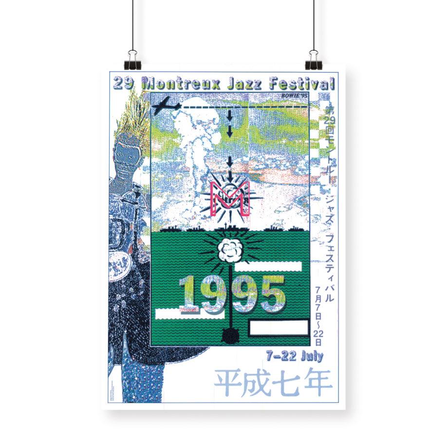 Poster David Bowie, 1995 Montreux Jazz Festival 70x100cm