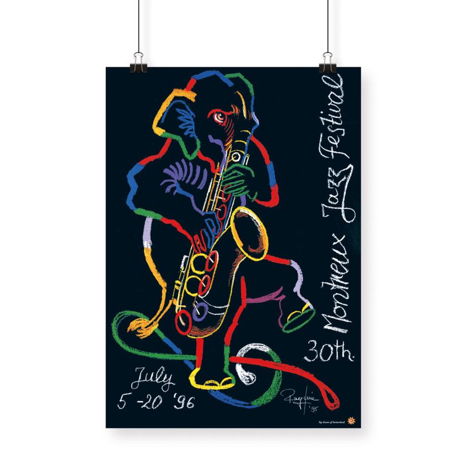 Poster Rolf Knie, 1996 Montreux Jazz Festival 70x100cm
