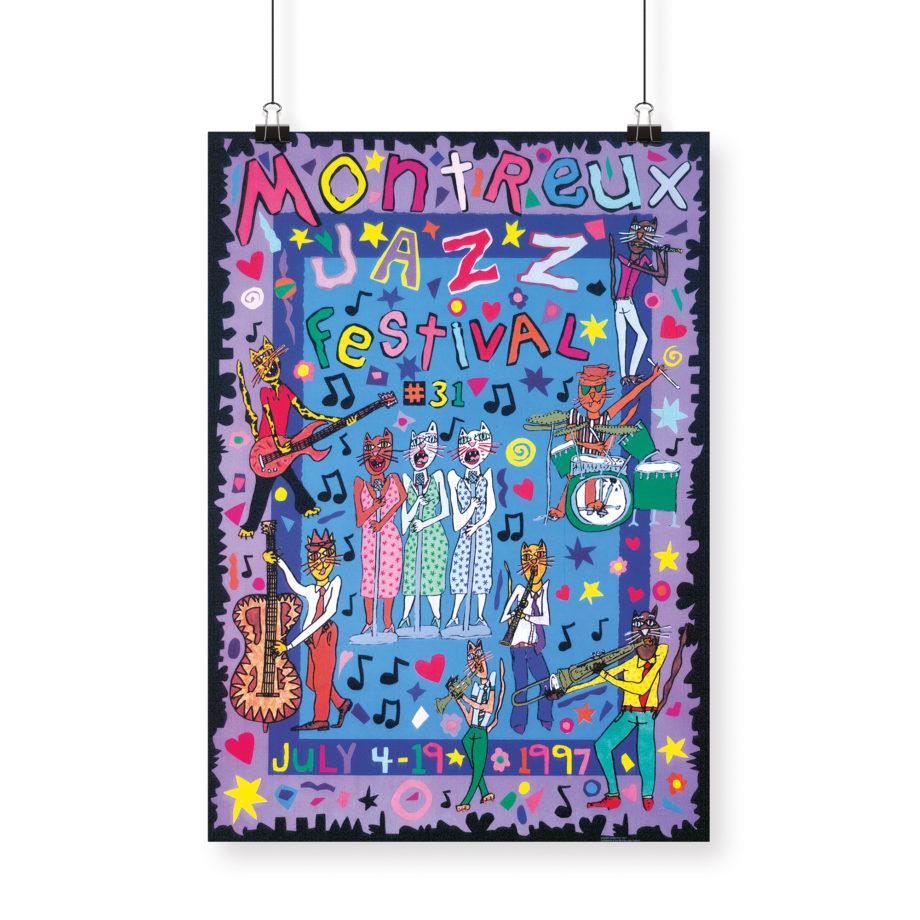 Poster James Rizzi, 1997 Montreux Jazz Festival 70x100cm