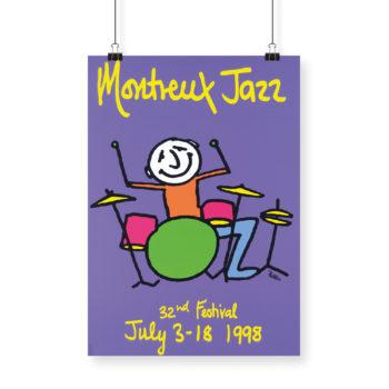 Poster Phil Collins 1998 Montreux Jazz Festival 70x100cm