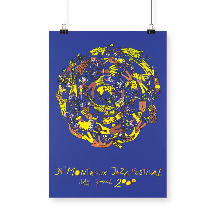 Poster Albin Christen 2000 Montreux Jazz Festival 70x100cm
