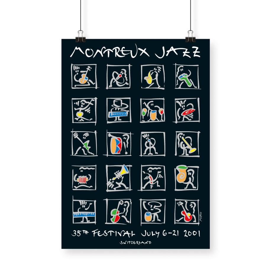 Poster Matthias Winkler, 2001 Montreux Jazz Festival 70x100cm