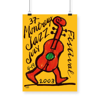 Poster Ted Scapa 2003 Montreux Jazz Festival 70x100cm