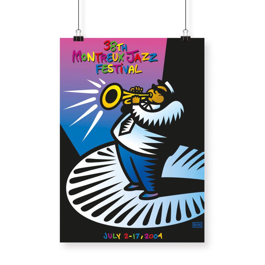 Poster Burton Morris 2004 Montreux Jazz Festival 70x100cm