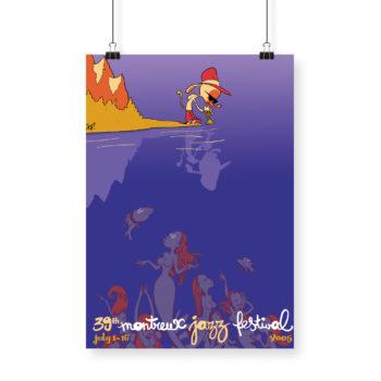 Poster Zep 2005 Montreux Jazz Festival 70x100cm