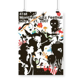 Poster Katrín Ólina 2007 Montreux Jazz Festival 70x100cm