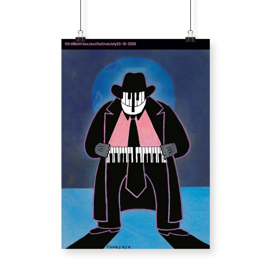 Poster Tomi Ungerer 2009 Montreux Jazz Festival 70x100cm