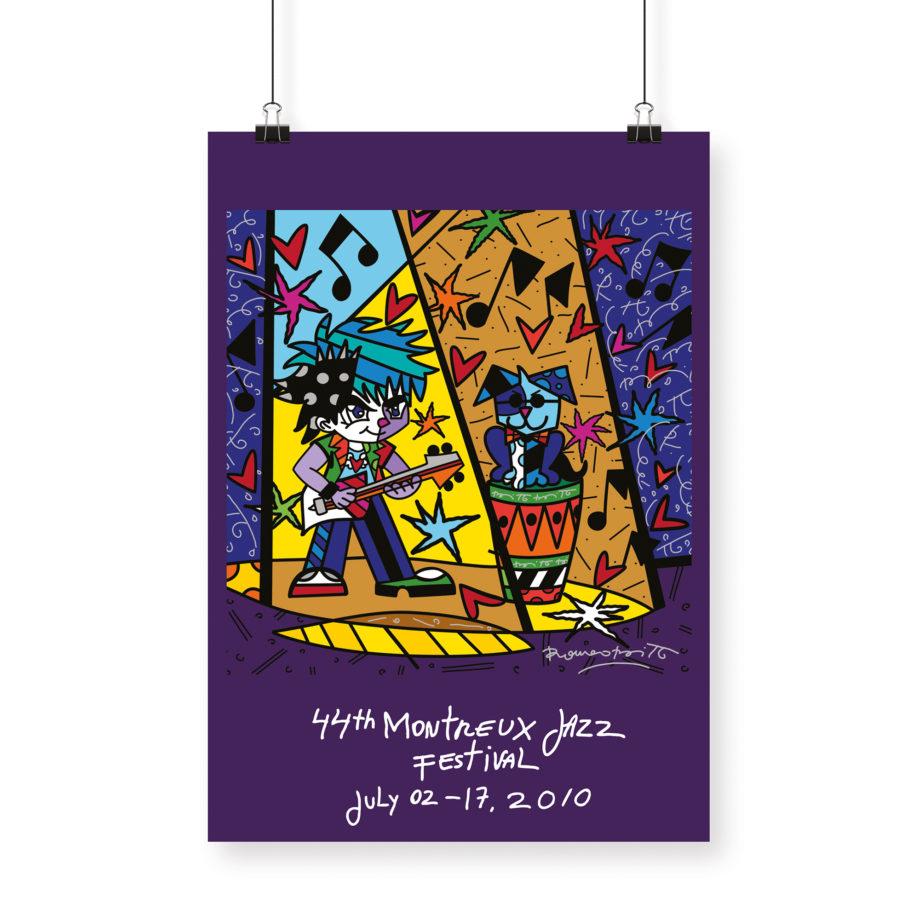 Poster Romero Britto 2010 Montreux Jazz Festival 70x100cm