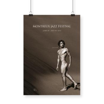 Poster Greg Gorman 2012 Montreux Jazz Festival 70x100cm Naked Man