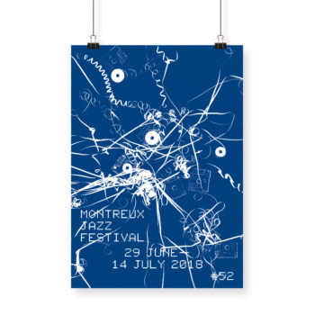 Poster Christian Marclay 2018 Montreux Jazz Festival