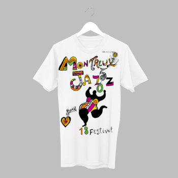 T-Shirt Niki de Saint Phalle 1984 Collection Vintage Montreux Jazz Festival
